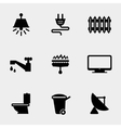 Home utilities icons vector image