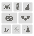 Icons with symbols of Halloween vector image