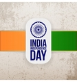 India Independence Day greeting Tag vector image vector image