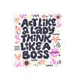 inspirational girls power lettering vector image vector image
