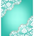Invitation card with lace vector image vector image