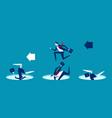 leader avoiding pitfalls concept business vector image