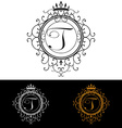 Letter T Luxury Logo template flourishes vector image vector image