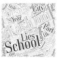 london fashion design schools Word Cloud Concept vector image vector image