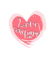 love conquers all handwritten lettering vector image vector image