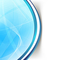 Modern blue wave swoosh line border background vector image vector image