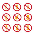 no wheat ears icons gluten free grains vector image vector image