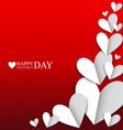 Paper hearts for Valentines Day vector image vector image