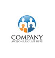 people business logo vector image vector image