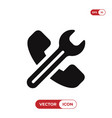 phone icon and wrench sign vector image