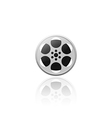 Realistic movie film reel isolated vector image vector image