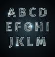 retro glowing font vector image vector image