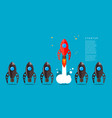 rocket launch business startup concept design vector image