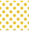 sad smile pattern seamless vector image vector image