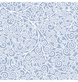 Seamless background with curls vector image vector image