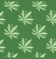 seamless drug hand drawn pattern green tones vector image vector image