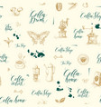 seamless pattern on tee and coffee theme vector image vector image