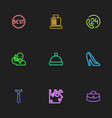 set of 9 editable trade outline icons includes vector image vector image