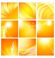 Set of nine abstract backgrounds vector image vector image