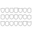 shields set security shield linear icons vector image vector image