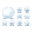 snowballs isolated icons set vector image vector image