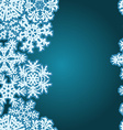 Snowflakes Winter seamless border seamless texture vector image vector image
