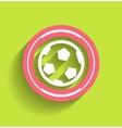 soccer ball icon flat modern icon vector image vector image