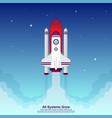 startup simple rocket web design responsive web vector image vector image