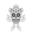 stencil decorative sugar skull pattern vector image