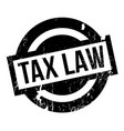 tax law rubber stamp vector image vector image