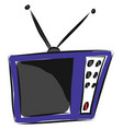 television hand drawn design on white background vector image