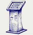 Terminal stand screen display console infokiosk vector image vector image