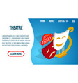 theatre concept banner isometric style vector image vector image