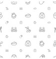 toddler icons pattern seamless white background vector image vector image