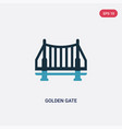 two color golden gate icon from united states vector image vector image