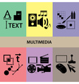 various multimedia icons and symbols set eps10 vector image vector image