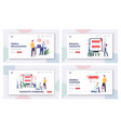 vasculitic syndromes landing page template set vector image vector image