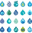 Water drop icons and design elements vector image vector image