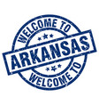 welcome to arkansas blue stamp vector image vector image