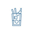 whiskey line icon concept whiskey flat vector image vector image