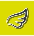 wings icon design vector image vector image