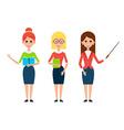 Woman Teacher Flat Characters vector image