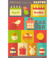 Easter Retro Labels vector image
