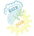 Sun-Rain Background vector image