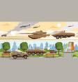 military equipment horizontal banners vector image