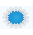 Picture frame cloud shape vector image