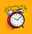 alarm clock is ringing wake-up call reminder vector image