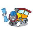 architect train character cartoon style vector image