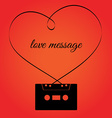 Audio cassette with heart shape tape vector image