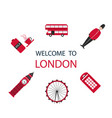 banner or flyer red london in modern style vector image